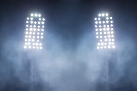 stadium lights: stadium lights and smoke