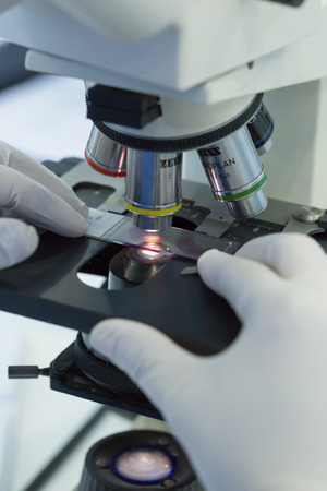 biochemical: Thessaloniki, Greece- March 3, 2015: Women working in Microbiology - Biochemical Laboratory and the National Reference Center for Mycobacteria in Greece.