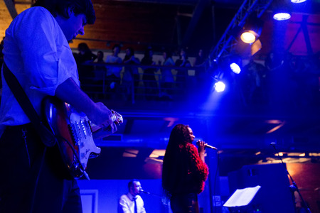 live performance: Thessaloniki, Greece, November, 15 2015: Souled Out (band) live performance at Closing Party 56th Thessaloniki International Film Festival at Warehouse C