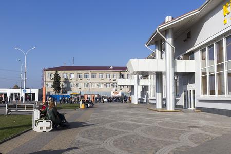 krasnodar: Krasnodar, Russia, November 5, 2015: View of the Pashkovskiy Terminal airport in Krasnodar, Russia. Krasnodar city has approximately 744,995 residents.