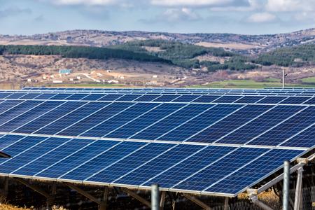 energia solar: planta de energ�a fotovoltaica Foto de archivo