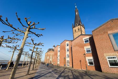 rhine westphalia: Dusseldorf, Germany - December 8, 2015: St Lambertus church is Roman Catholic church in Dusseldorf historic center in Dusseldorf, Germany. Editorial