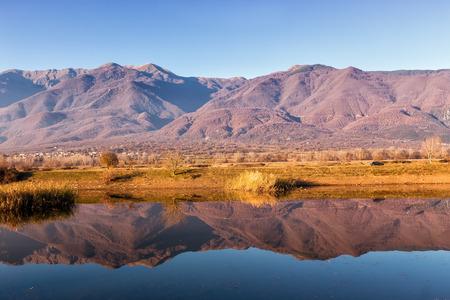 kerkini: View of Kerkini Lake in day light in Greece