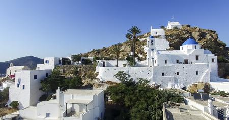 ios: Aerial view of Chora town, Ios island, Cyclades, Aegean, Greece