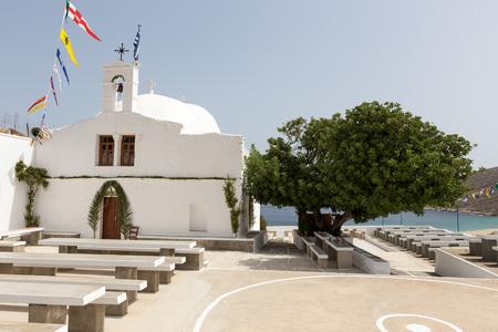 ios: Greek Church in Ios Island, Greece Stock Photo