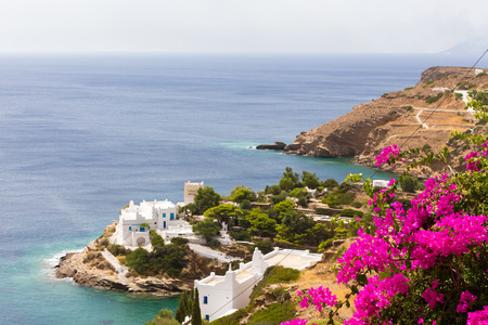 chora: Wonderful view of City buildings in Ios Island, Greece