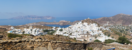 aegean: Aerial view of Chora town, Ios island, Cyclades, Aegean, Greece