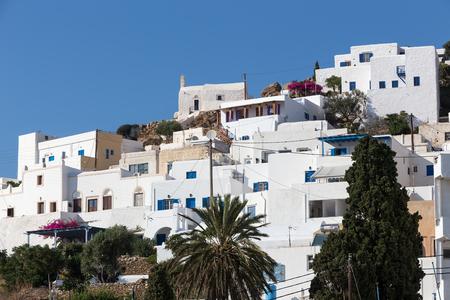 ios: Wonderful view of City buildings in Ios Island, Greece