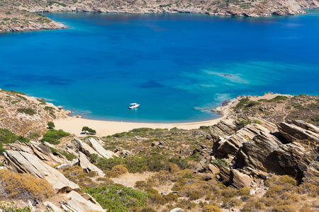 best travel destinations: Mylopotas beach, Ios island, Cyclades, Aegean, Greece
