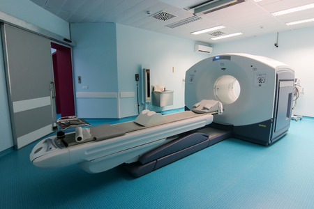 enhanced health: Thessaloniki, Greece - February 17, 2016: Official opening of the first CT imaging PET-CT scanner (PET-SCAN) in northern Greece in the hospital C. Papageorgiou Editorial