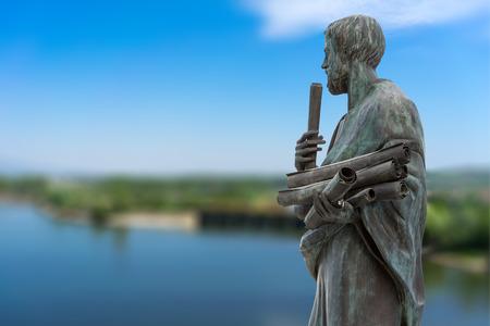 Statue von Aristoteles eine große griechische Philosoph