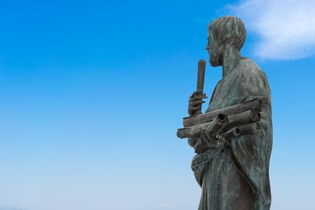 theorist: Statue of Aristotle a great greek philosopher