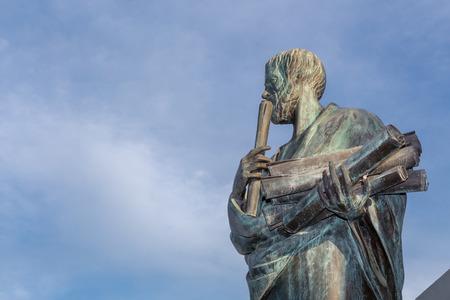 Statue von Aristoteles eine große griechische Philosoph Lizenzfreie Bilder - 56882452