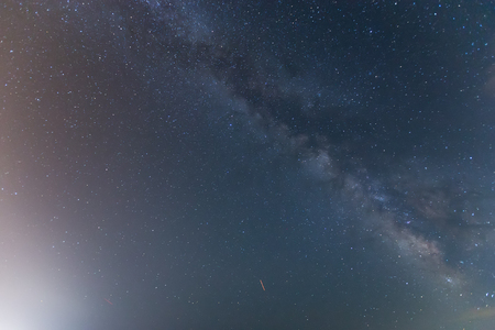 starlit sky: The starry sky and the Milky Way. Image contain noise, blur due to slow shutter speed.