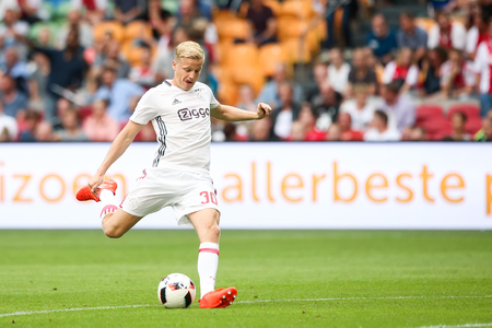 Amsterdam, Netherlands - July 26, 2016:  Donny van de Beek  in action during the UEFA Champions League third qualifying round between Ajax vs PAOK
