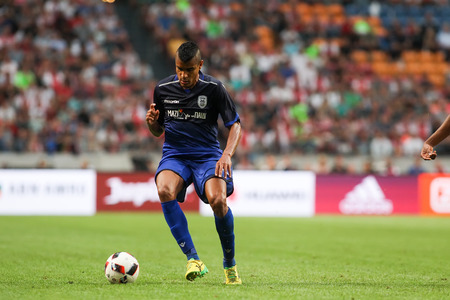 ajax: Amsterdam, Netherlands - July 26, 2016: Matos Cruz  in action during the UEFA Champions League third qualifying round between Ajax vs PAOK