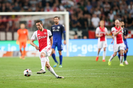 ajax: Amsterdam, Netherlands - July 26, 2016: Riechedly Bazoer  in action during the UEFA Champions League third qualifying round between Ajax vs PAOK