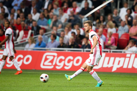 ajax: Amsterdam, Netherlands - July 26, 2016:  Joel Veltman  in action during the UEFA Champions League third qualifying round between Ajax vs PAOK Editorial