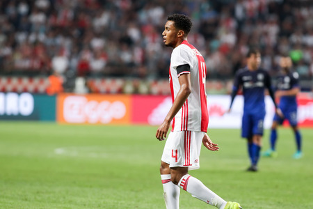 ajax: Amsterdam, Netherlands - July 26, 2016: Jairo Riedewald in action during the UEFA Champions League third qualifying round between Ajax vs PAOK