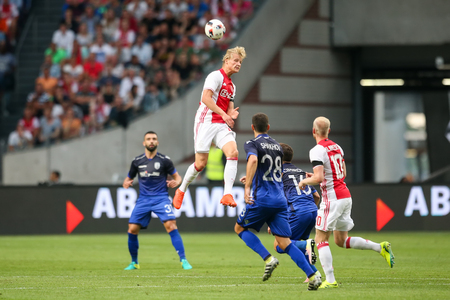 ajax: Amsterdam, Netherlands - July 26, 2016:   in action during the UEFA Champions League third qualifying round between Ajax vs PAOK