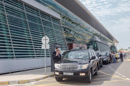 rustaveli: Tbilisi, Georgia - August 17, 2016: Shota Rustaveli Tbilisi international airport - modern building