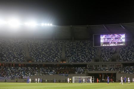 boris: Tbilisi, Georgia - August 18, 2016: Interior view of Boris Paichadze Dinamo Arena during the  UEFA Europa League, first round of the playoffs between Dinamo vs PAOK.