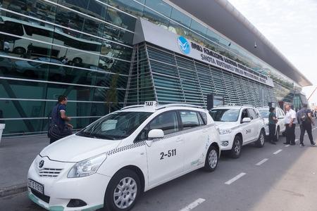 shota: Tbilisi, Georgia - August 17, 2016: Shota Rustaveli Tbilisi international airport - modern building