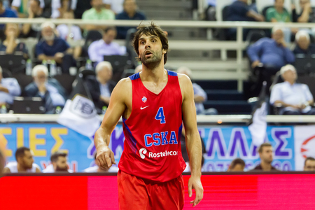Thessaloniki, Greece - September 8, 2016: Teodosic Milos of CSKA in action during the friendly match PAOK vs CSKA Moscow