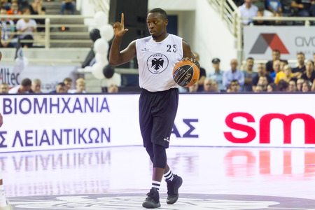 bryant: Thessaloniki, Greece - September 8, 2016: Bryant  Darryl of PAOK in action during the friendly match PAOK vs CSKA Moscow