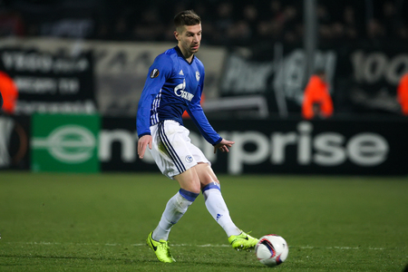 Thessaloniki, Greece, February  16, 2017: Schalke Matija Nastasic in action during the UEFA Europa League match between PAOK vs Schalke played at Toumba Stadium Editorial