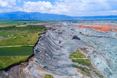 Landslide in lignite mine of Amyntaio, Florina, Greece