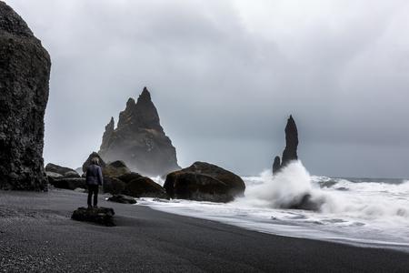 Stormy Weather at Reynisfjara Volcanic Beach