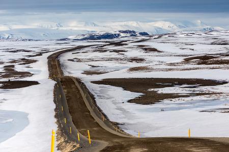 Road in Iceland, heading to Husavik.