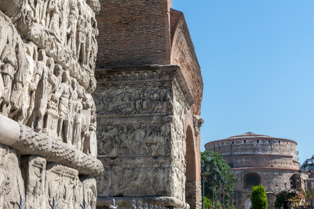 Arch of Galerius (or Kamara) and Rotunda in Thessaloniki - Grecee
