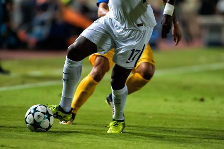Nicosia, Cyprus - Semptember 26, 2017: Champions League-wedstrijdbal tijdens het UEFA Champions League-spel tussen APOEL VS Tottenham Hotspur