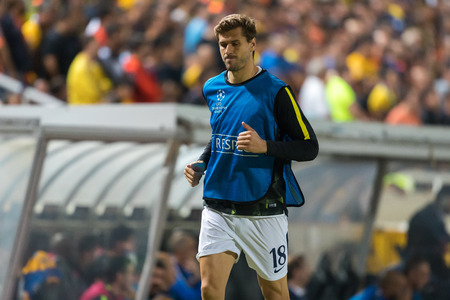 Nicosia, Cyprus - Semptember 26, 2017: Player of Tottenham Fernando Llorente in action during the UEFA Champions League game between APOEL VS Tottenham Hotspur