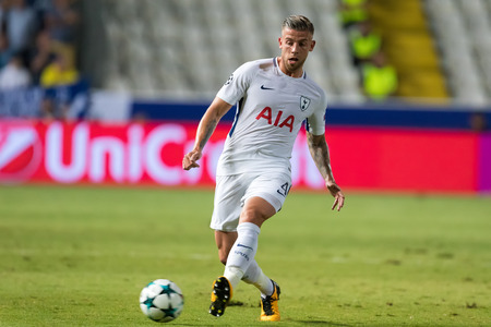 Nicosia, Cyprus - Semptember 26, 2017: Player of Tottenham Toby Alderweireld  in action during the UEFA Champions League game between APOEL VS Tottenham Hotspur Editorial