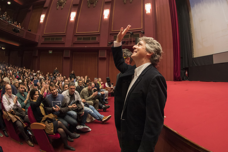 Thessaloniki, Greece - November 7, 2017: Director and screenwriter Alexander Payne during the 58th international Thessaloniki Film Festival at Olympion Cinema Editorial