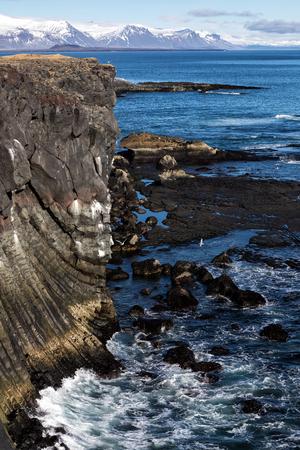 Rocks and the blue sea, Iceland
