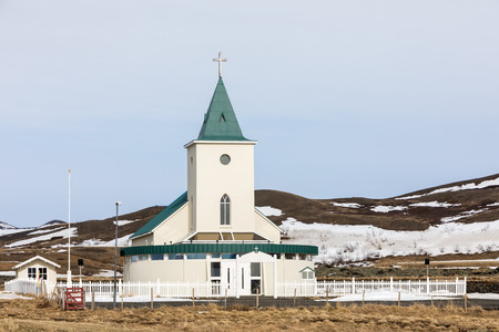 view of typical icelandic church