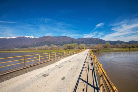 bridge over River Strymonas at North Greece