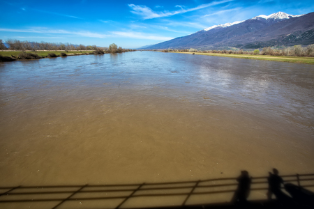 River Strymonas at North Greece
