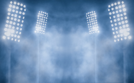 stadium lights and smoke Imagens - 114522384