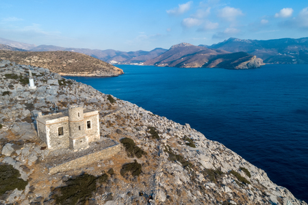 Catapola Lighthouse in Vathy of Amorgos was built in 1882. It is one of the oldest lighthouses of the Greece