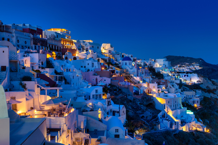 Oia village in Santorini island in Greece 免版税图像