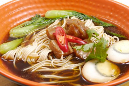 asian noodle: Asian noodle soup Stock Photo