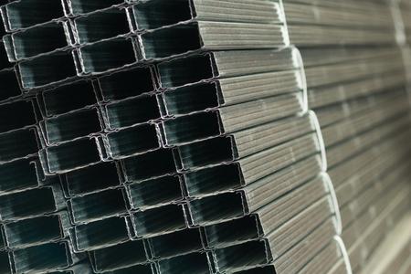 sheet metal profiles close up