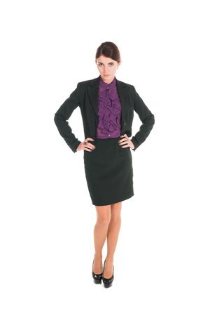 beautiful business woman isolated