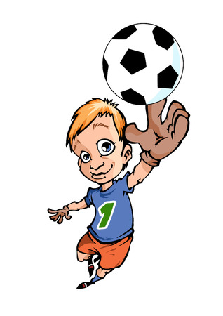 role: Active teens playing football, he was in the role of the goalkeeper