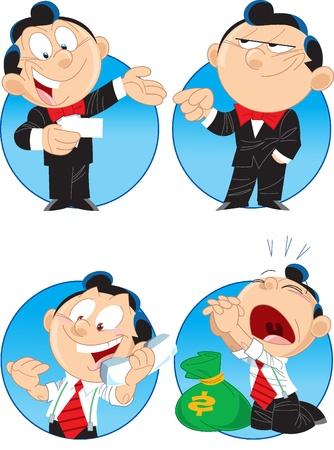 phone money: La ilustraci�n muestra a los administradores pocos caracteres. Estos son los hombres, que hacen negocios.